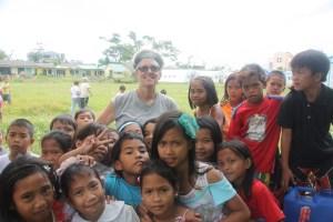 Claire at Sagkahan School Tacloban small