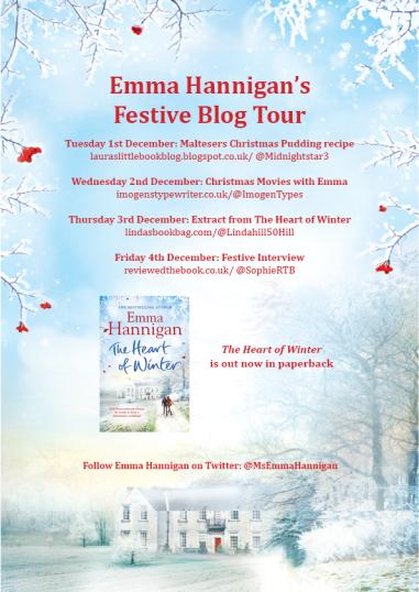 Emma Hannigan Festive Blog Tour poster