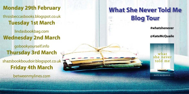 What She Never Blog Tour Poster