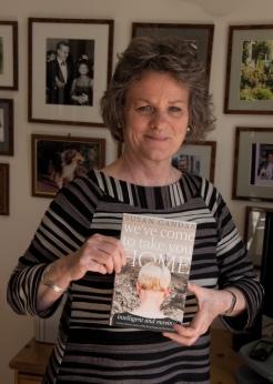 Susan Gandar holding book