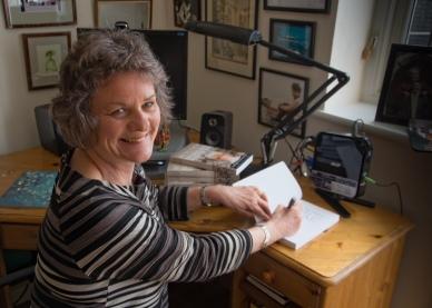 Susan Gandar signing books