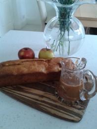 Apple and caramel loaf
