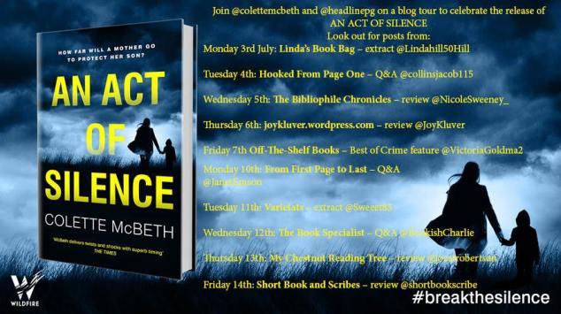 An Act of Silence Blog Tour banner