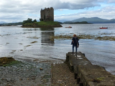 Me, waiting for boat over to Castle Stalker