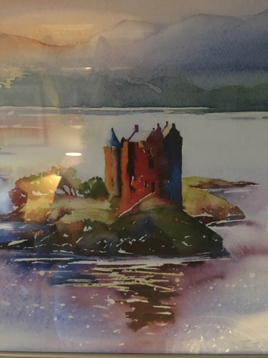 photograph of my poster of Castle Stalker