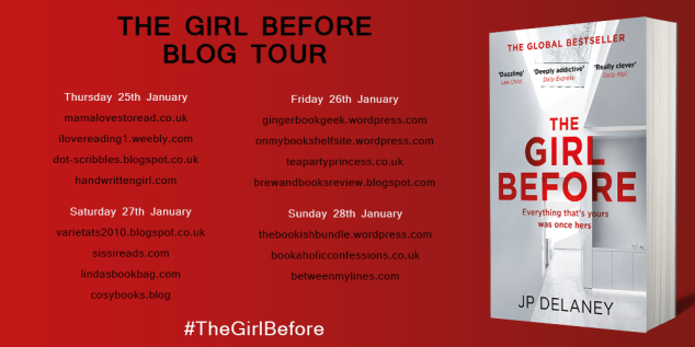 The Girl Before Blog Tour Jan 2018