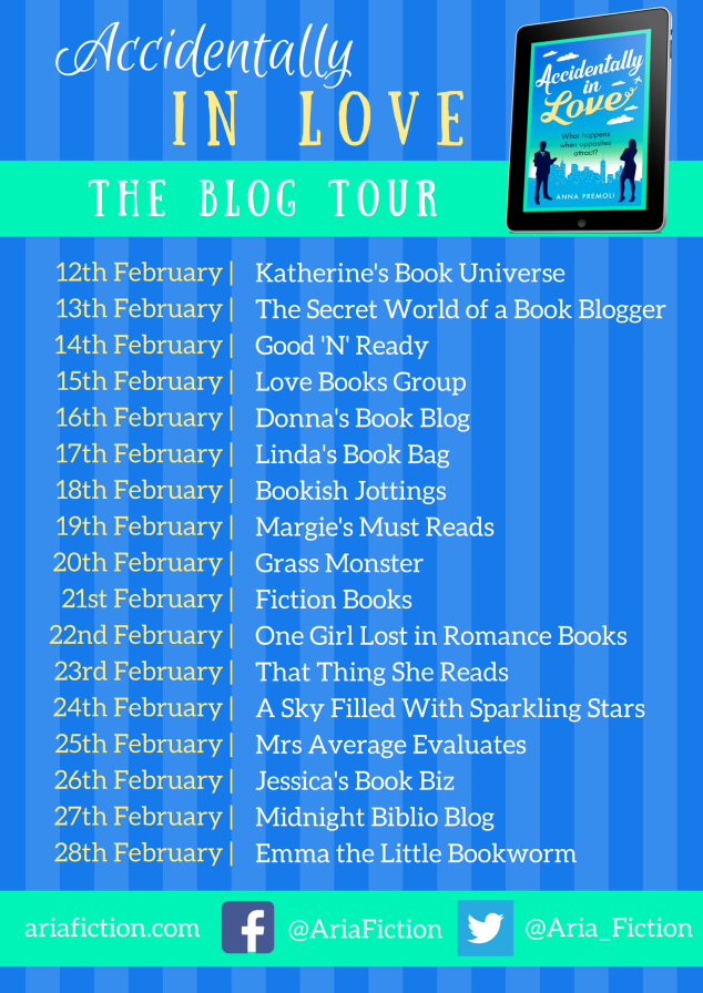 Accidentally in Love blog tour banner