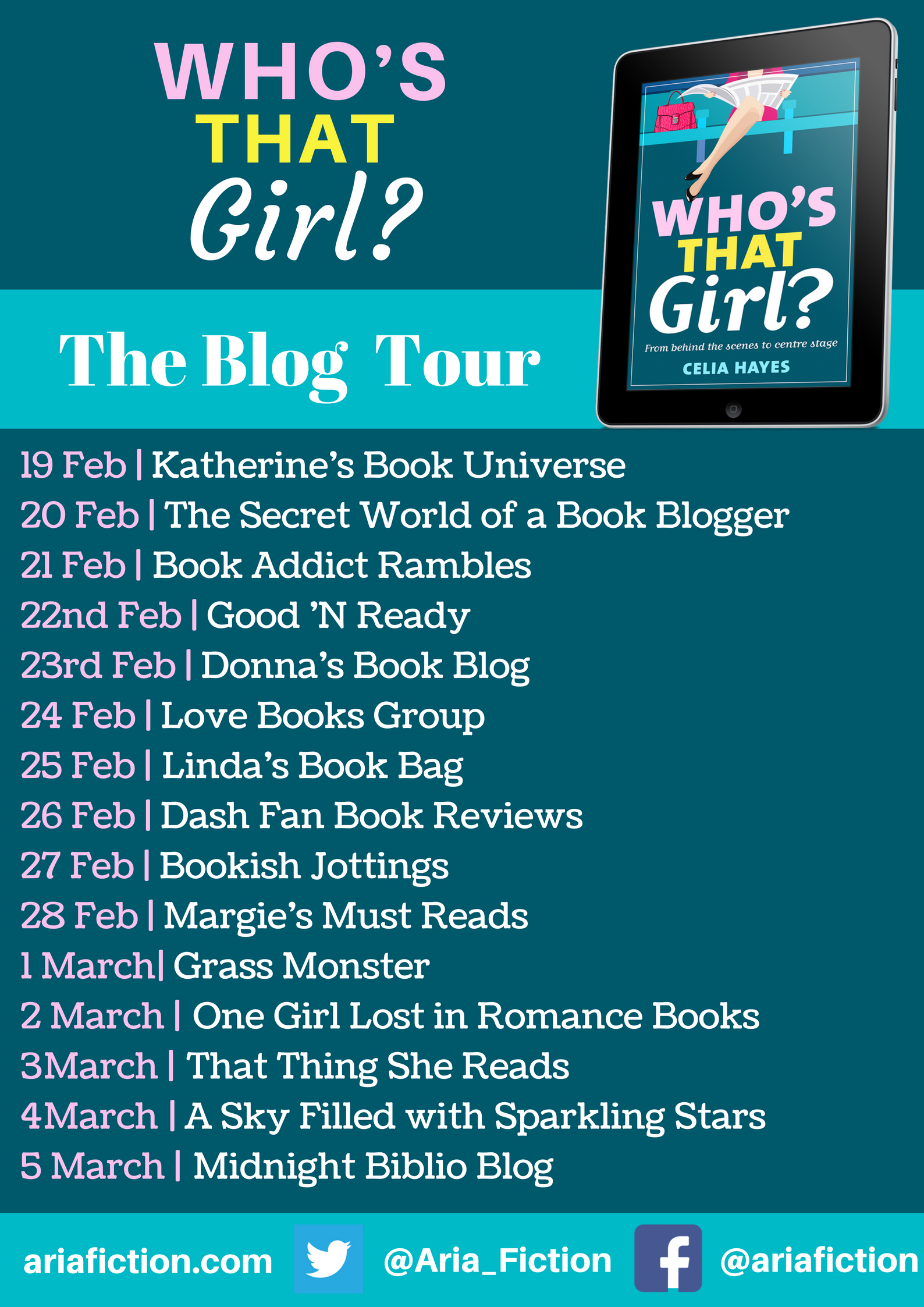Who's That Girl blog tour banner