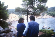 Dina and Yannis contemplating Atsitsa in 1984