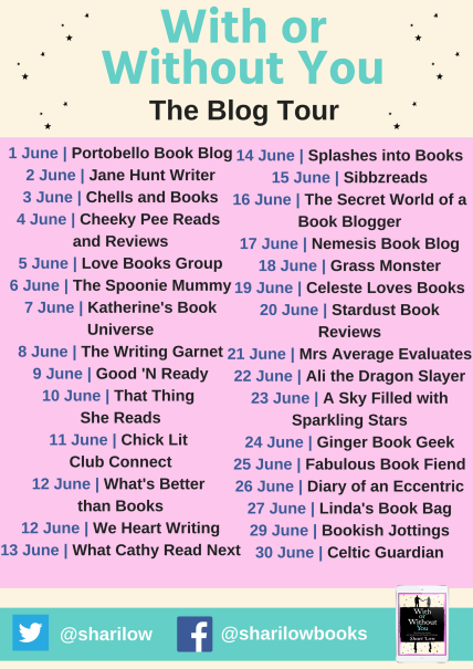 With or Without You blog tour banner