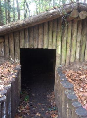 hut entrance