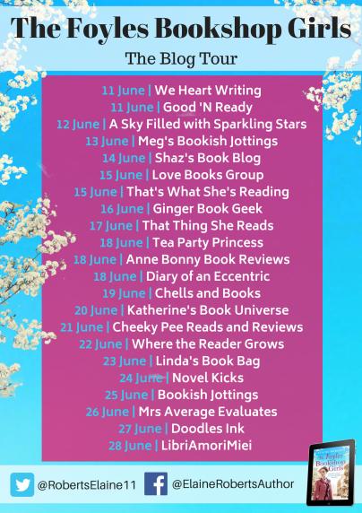 The Foyles Bookshop Girls blog tour banner