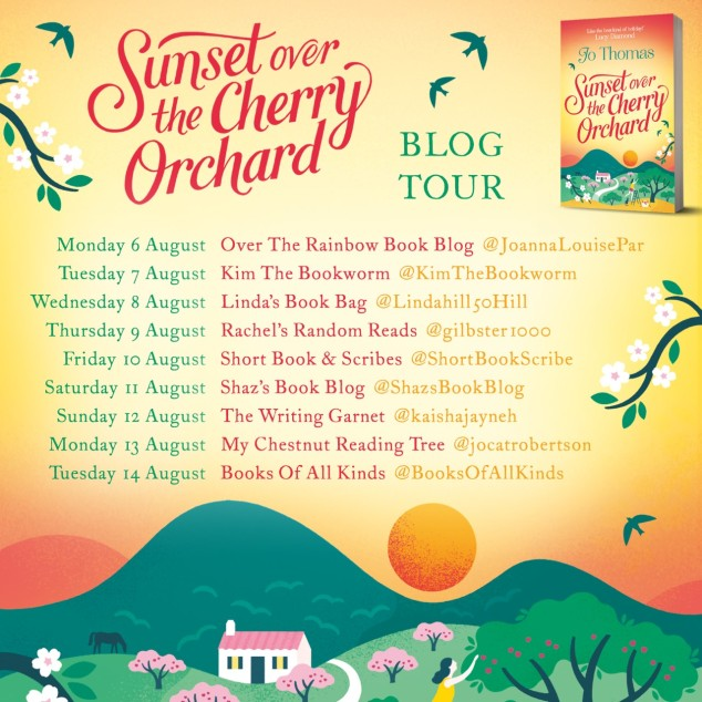 Sunset Over Cherry Blog Tour Poster