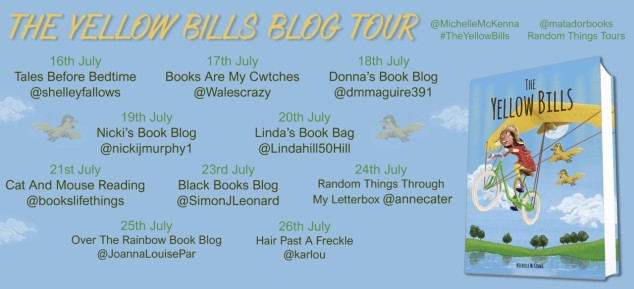 Yellow Bills Blog Tour Poster