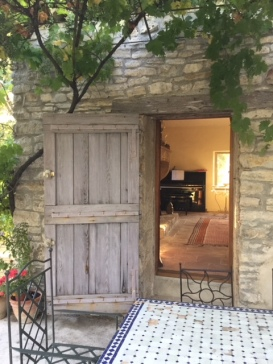 Rob's piano in music room. Provence