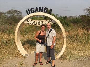 Linda and Steve Uganda Equator
