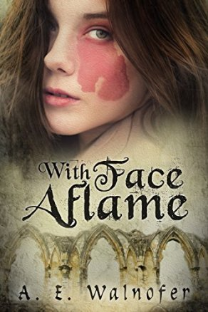 With Face aflame