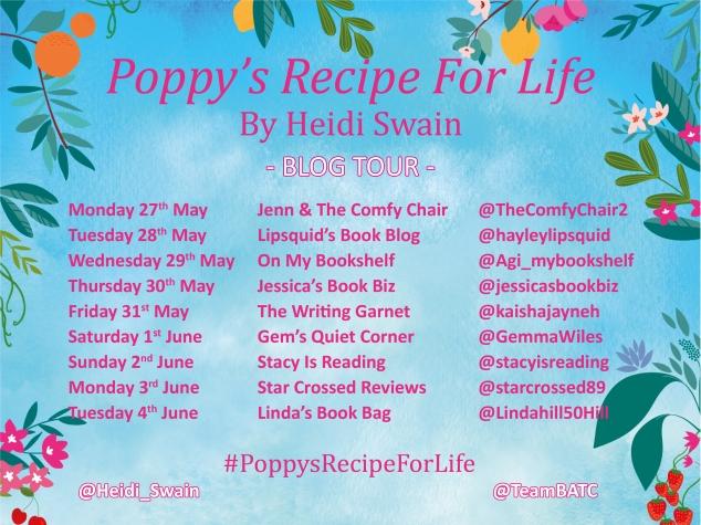 Poppy's Recipe For Life Blog Tour Graphic