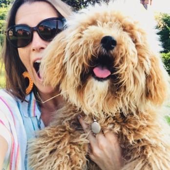 izzy and dog