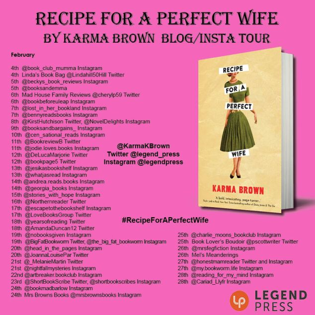 Recipe for a Perfect Wife Blog Tour