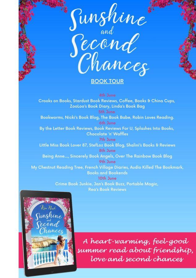 Sunshine and Second Chances Blog Tour poster