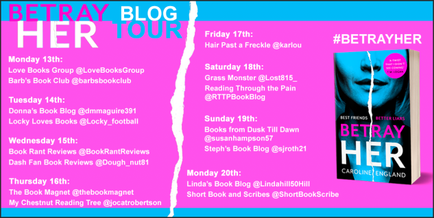 Betray Her blog tour banner
