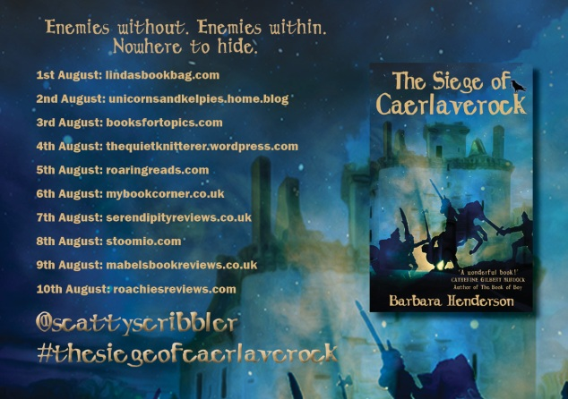 Siege of Caerlaverock BLOG TOUR POSTER