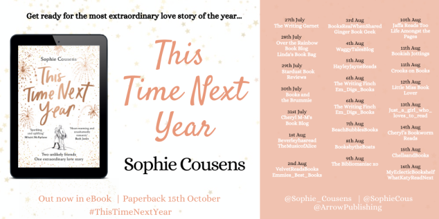 This Time Next Year blog tour banner