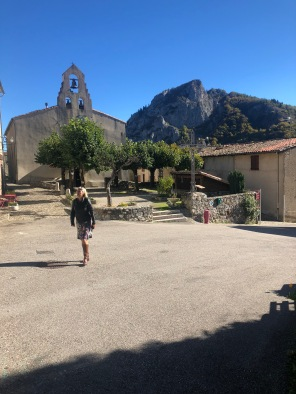 Church square Montsegur taken from well Otto was dropped down